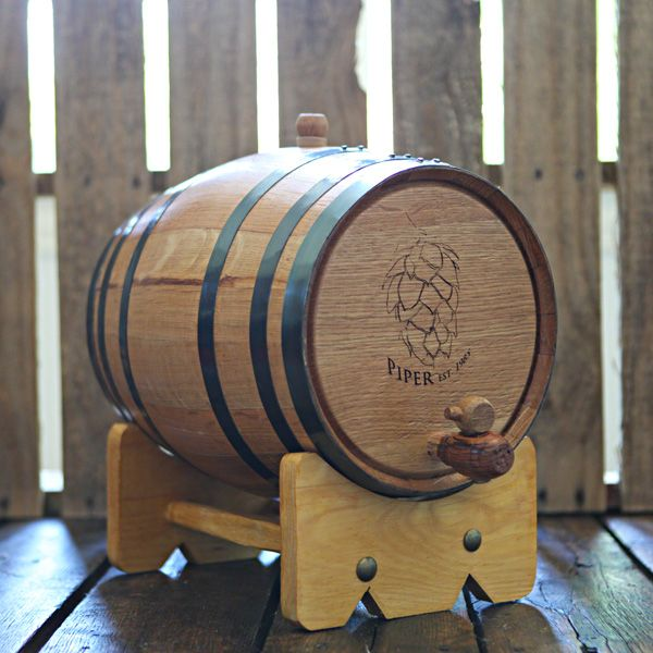 Handcrafted 10-liter Oak Barrel used to age your own beer, wine and liquor at home!  Add years of aging flavor in only weeks.  Age whiskey, bourbon, tequila, scotch, vodka, gin, hot sauce, vinegar, beer and wine!  Great for gifts, dad, grandfather, man room, man cave, home brewer, home distiller and wine maker.  Can be engraved for weddings & groomsmen gifts.  $119.99 at www.longhornbarrels.com