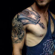 http://ifltattoos.com/celtic-warrior-tattoo/ Celtic Warrior Tattoo #Armour, #Celtic, #SymbolicInk, #Warrior