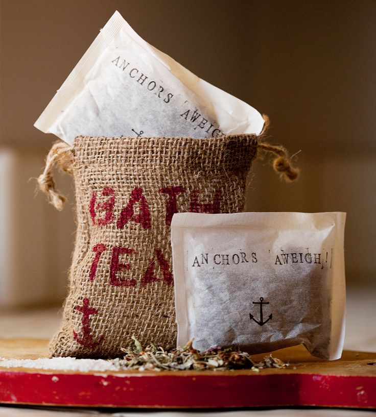 Herbal Bath Tea Soak - 4 Pack by Reveille Reveille on Scoutmob Shoppe. A tea bag for your bath! In additional to tea, this herbal soak has bath salts and aromatic oils. All in a cute nautical package.