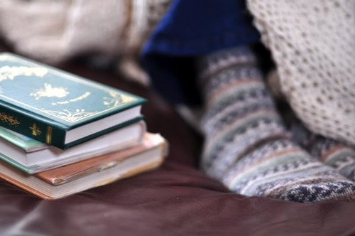 Books and blanket