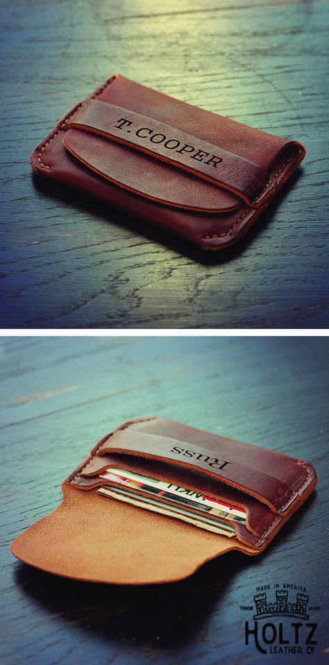 The Babe Personalized Front Pocket Wallet is handmade right here in our shop with the finest of Full Grain American leathers. We hand pick our leather hides from a local tannery ~ for a rustic look and feel. This is a gift that will be used and loved for a lifetime! Perfect for the executive, professional, father, or dear friend in your life.