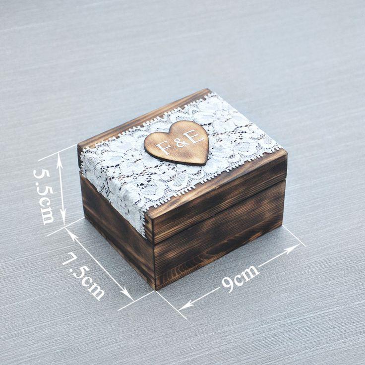 Personalized Ring box, Wedding Ring Bearer Box, Memory Wooden Keepsake box, Wedding Ring Holder, Wedding Decor Favor box