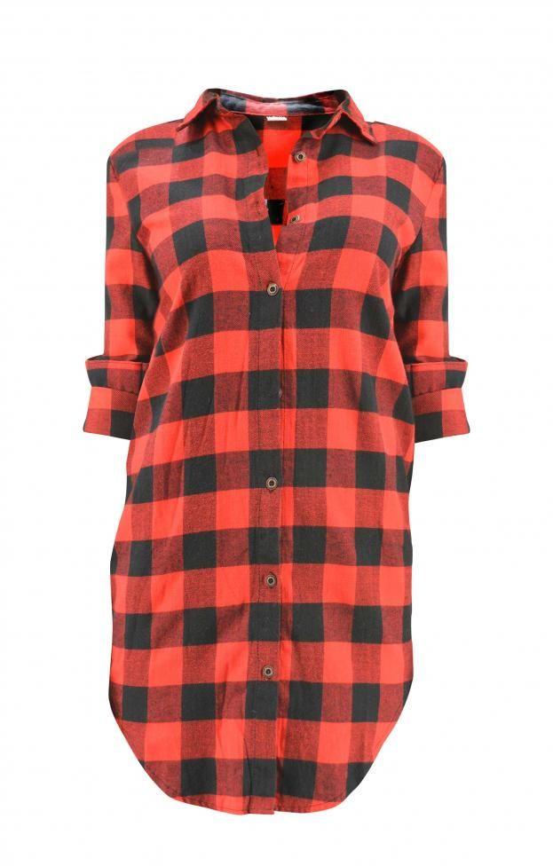 Γυναικείο πουκάμισο καρό φερμουάρ  POUK-1626
