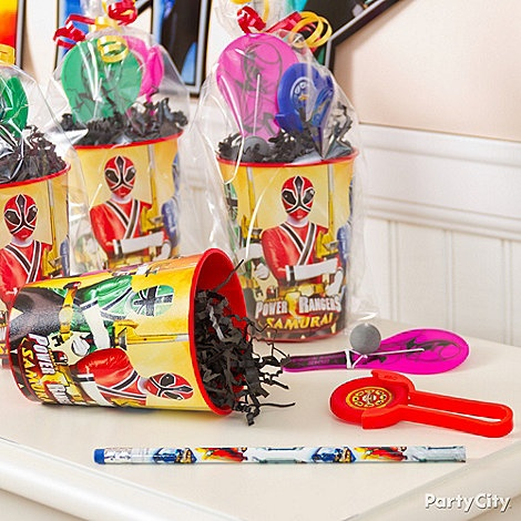 Power Rangers Party Ideas: Favors - Click to View Larger