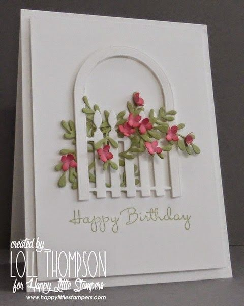 Hi everyone. This is my final reminder of the Happy Little Stampers CAS Challenge - Die-cuts / Punches. I've used both on my card above. :) I had so much fun making this card!! I combined an arched