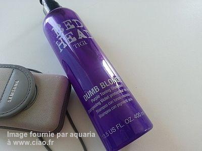 Avis sur le shampooing TIGI Bed Head Dumb Blonde Shampooing  Tonifiant Violet par aquaria