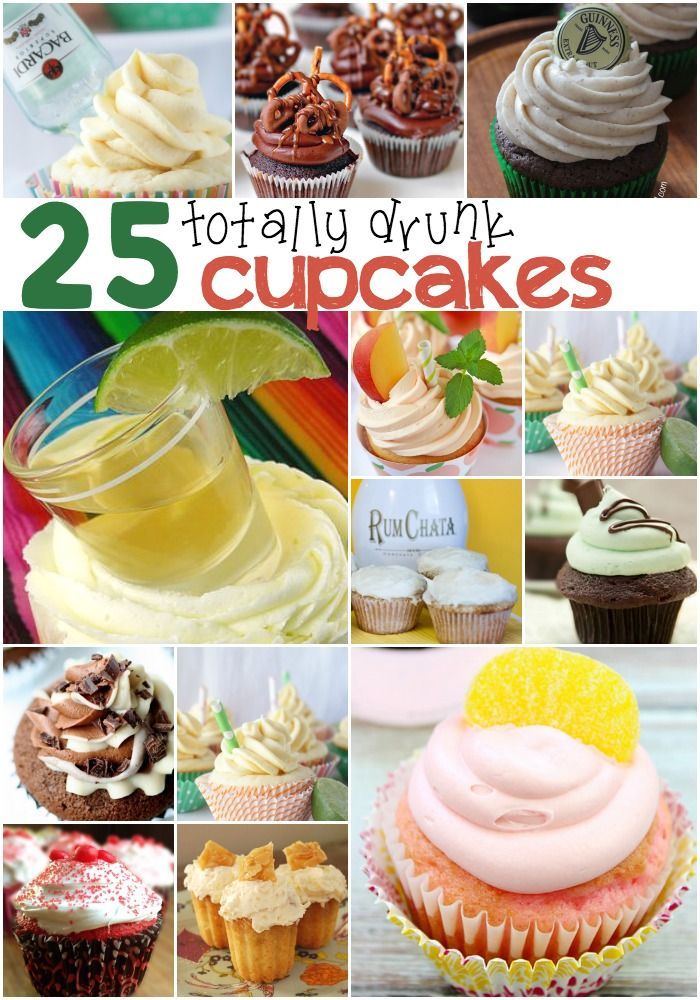 25 totally drunk cupcakes