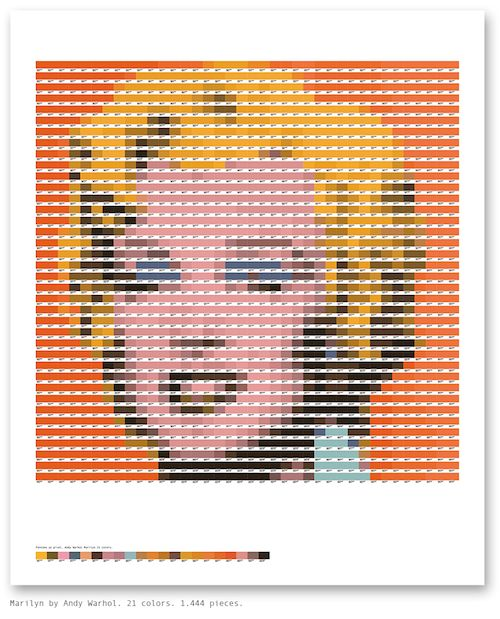 Pantone as Pixels: Color Mosaics by Txaber
