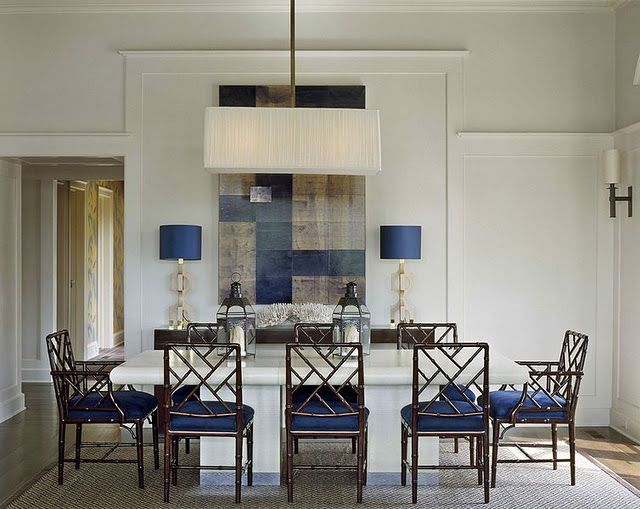 | P | Beautiful Rooms: Chinese Chippendale chairs + contemporary art