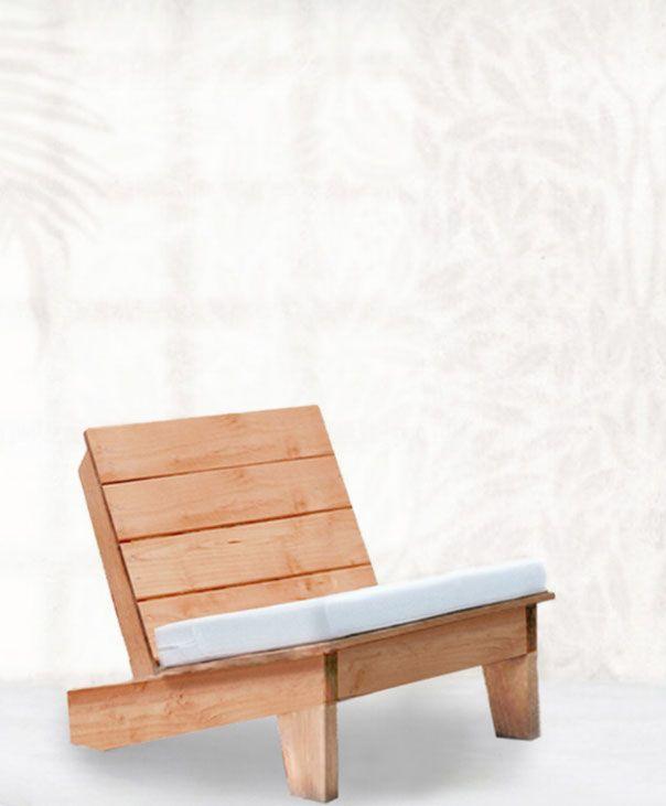 fauteuil bas bois jardin mobilier de