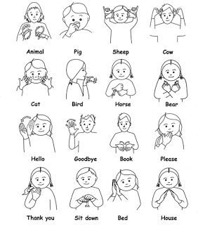 baby sign language australia free printable chart - Google Search