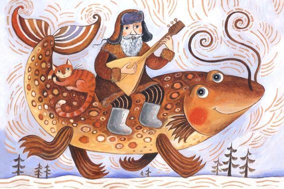 Сообщество иллюстраторов / Иллюстрации / Герасимова Дарья / Зимняя рыба