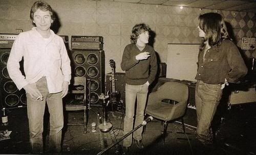 Back in Black studio - Angus Young, Cliff Williams - 1980