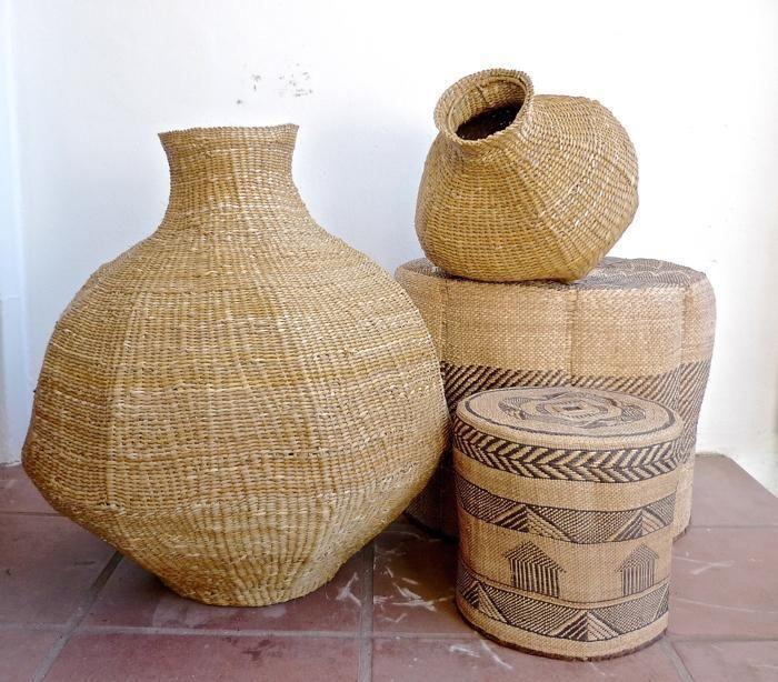 Xhosa weave gourd baskets from the Eastern Cape, South Africa. BaTonga baskets from Zimbabwe. Designed by Design Afrika www.designafrika.co.za
