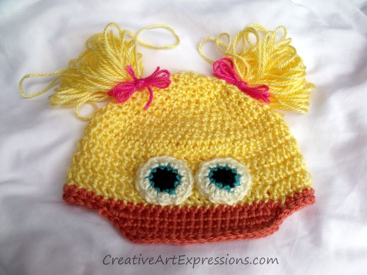 Gifted Creative Art Expressions Hand Crocheted Toddler Duck Hat