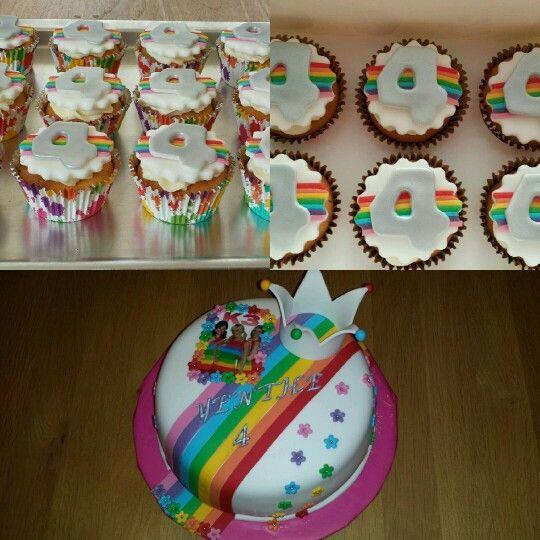 K3 taart + cupcakes