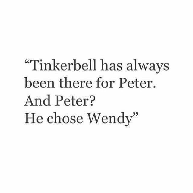 As a child you hated Tinkerbell for that and now we feel her pain and can relate to her