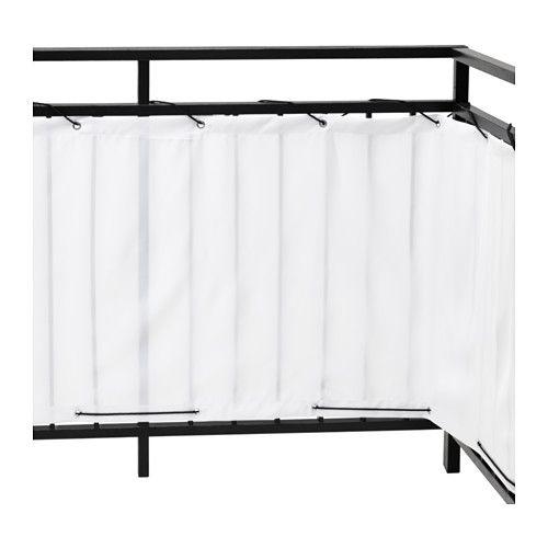 DYNING Insynsskydd för balkong, vit vit 250x80 cm