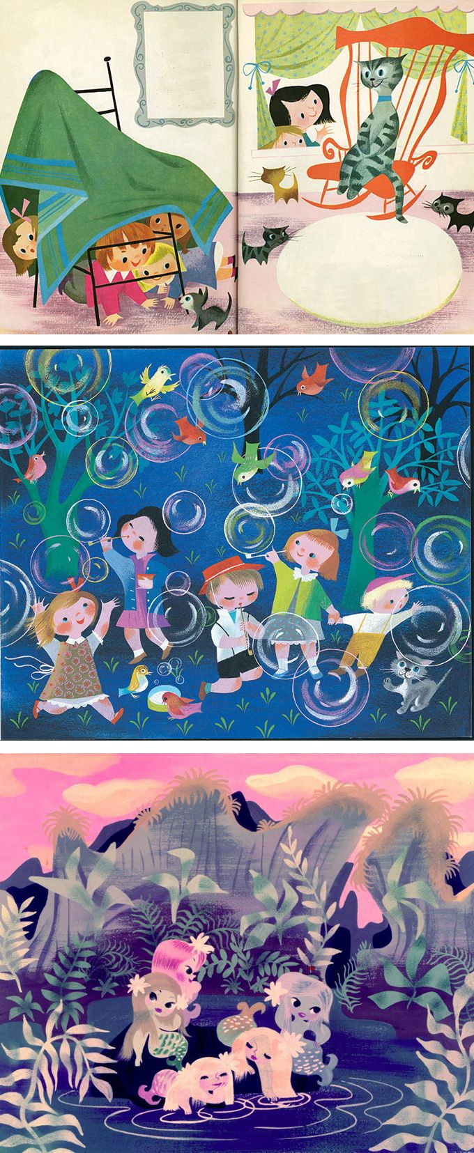 Mary Blair Golden book illustrations