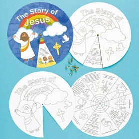 Use this story wheel idea for different Bible lesson.   The Life of Jesus Story Wheels