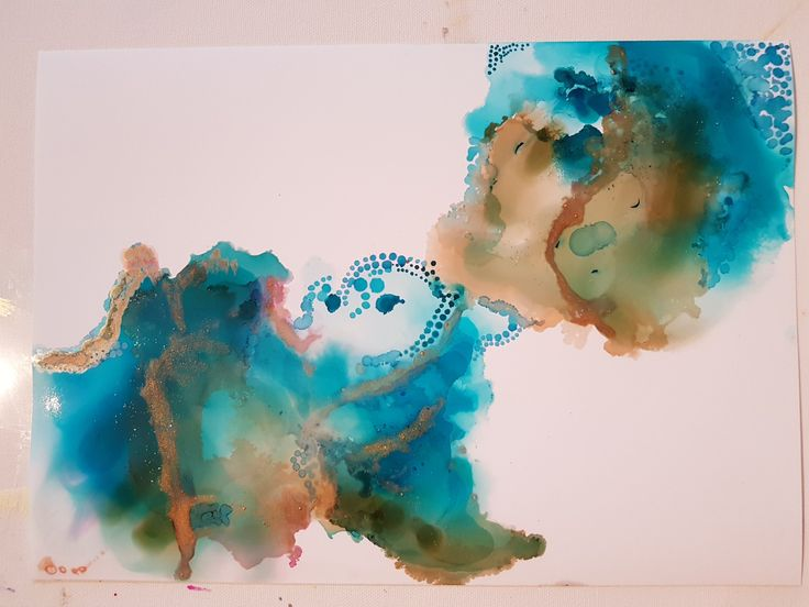 #alcoholink #abstractpainting #glossypaper