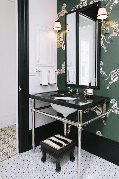 17 best ideas about zebra wallpaper on pinterest for Discount bathroom wallpaper