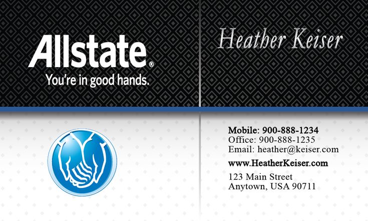 Allstate business card design 201181 allstate insurance
