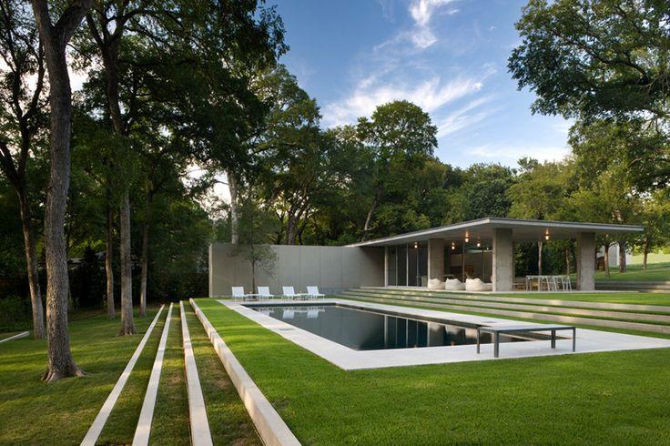 Philip Johnson. Pool. ideas, backyard, patio, diy, landscape, deck, party, garden, outdoor, house, swimming, water, beach.