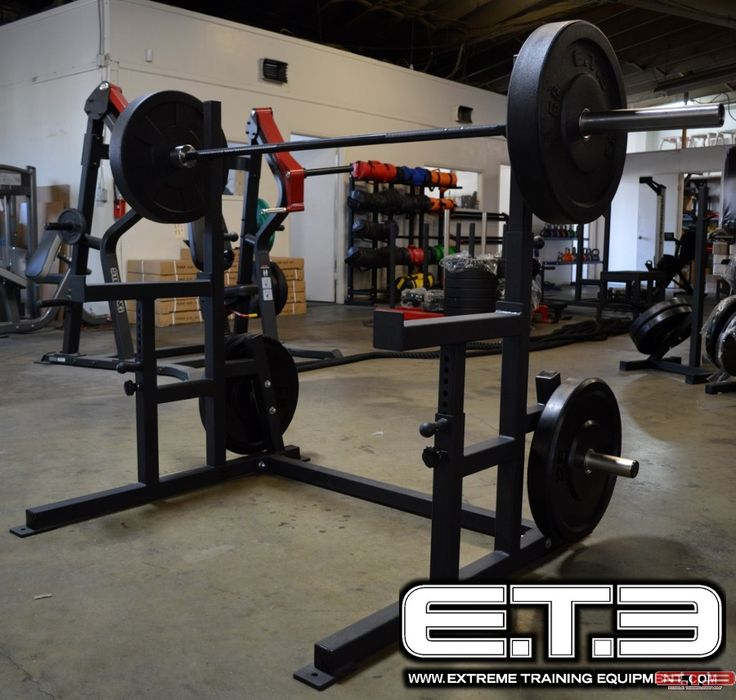 Safety Stands For Bench Press Part - 29: DELUXE SQUAT STAND W/ SAFETY SPOTTERS. ETE Deluxe Squat Stand With  Adjustable Safety Spotters