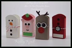 OnStage Local Swap 2015 - Mini Tic Tac Character Boxes: Christmas Set. Kelly Kent - mypapercraftjourney.com.