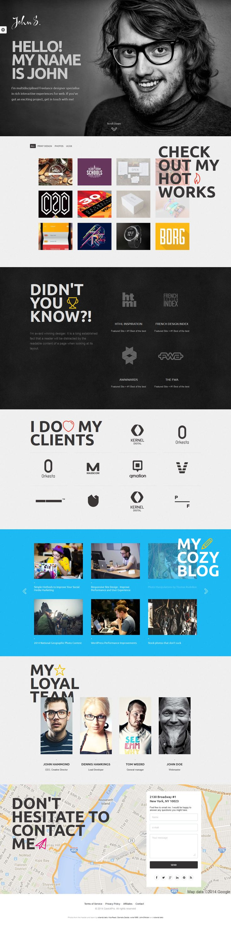 Cool Web Design on the Internet, John's Portfolio. #webdesign #webdevelopment #website @ http://www.pinterest.com/alfredchong/web-design/