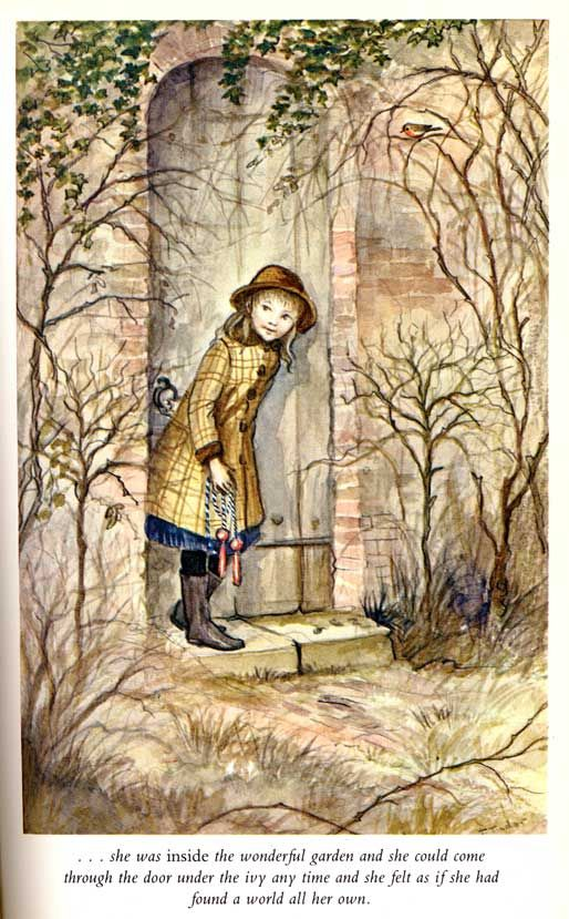 Tasha Tudor's illustration for 'The Secret Garden'. This is the edition my mom read to us when we were little.