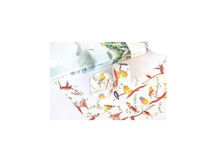 "WASHI páska ""Ptačí ráj "" (PW30D10M0043). rozměr 3.0cm x 10m"