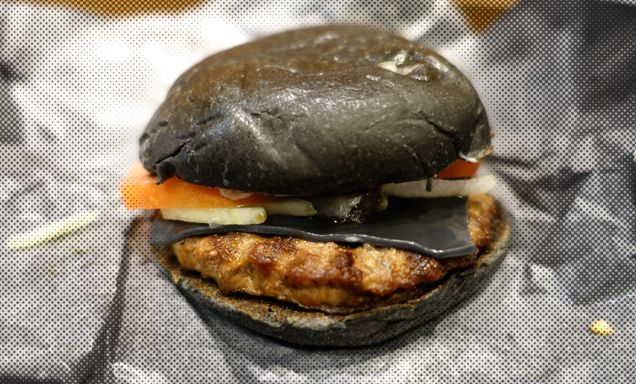 Burger King Japan's Black Cheeseburger