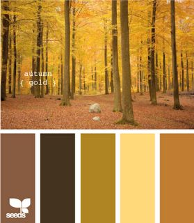 Okergoud icm warm kleurenpalet