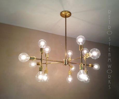 Custom Made Modern Contemporary Light Piano Light - Multiple Light Edison Bulb Chandelier Lamp