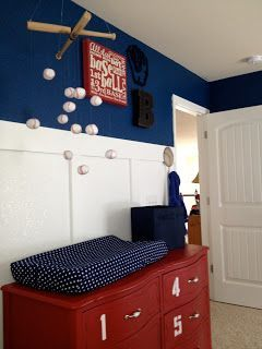 Mitchell's: One Year Down, Forever To Go: Brody's Nursery - Bringing Vintage Baseball Back #baseballnurserybabyboy #baseball #baseballnursery