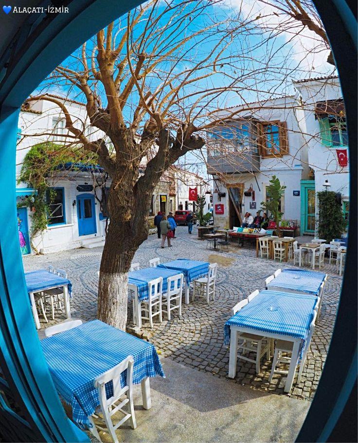 🌤 愛琴海小鎮阿拉恰特一個神清氣爽的冬日午後。©ceyyhuun