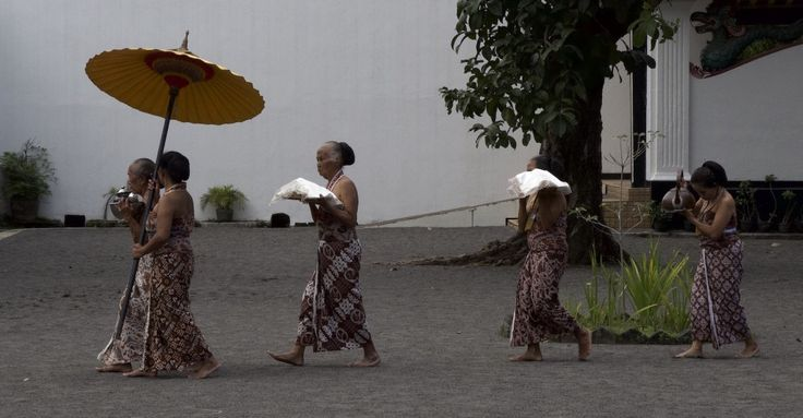 Ladies in Kraton performing an afternoon ceremony, Yogyakarta, Indonesia