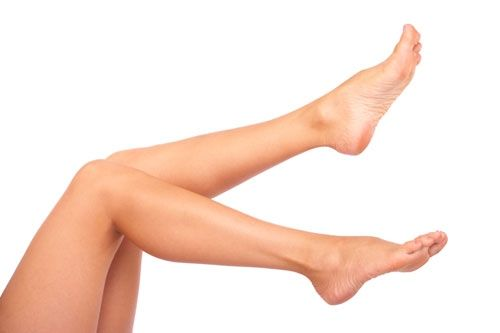 To eliminate dry skin and ingrown hairs on legs you will need baking soda, a wash cloth and a warm bath. Soak in the bath, the longer the better. Then pour baking soda into your hand and make a paste with water. Massage into your legs and let the paste sit for a while (5-10 mins), rinse off and use the wash cloth to exfoliate the dead skin! There will be lots.
