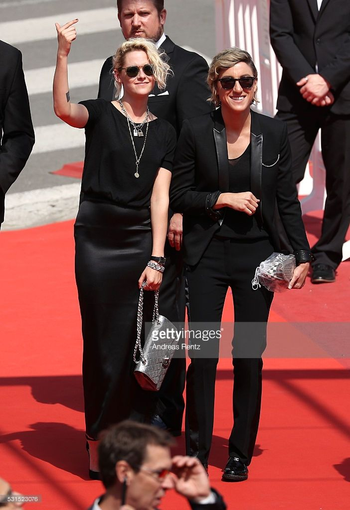 Kristen Stewart and Alicia Cargile attend the 'American Honey' premiere during the 69th annual Cannes Film Festival at the Palais des Festivals on May 15, 2016 in Cannes, France.