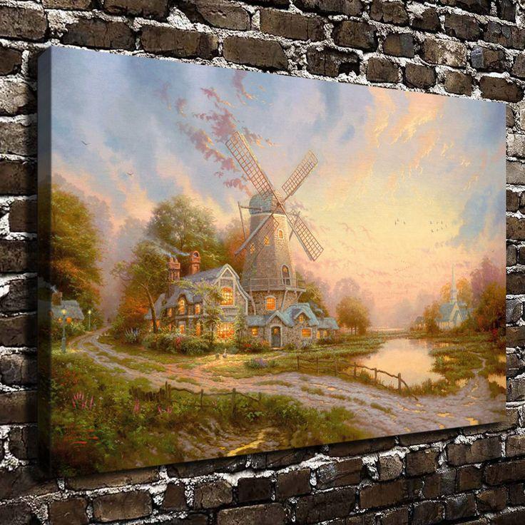 H1221 томас кинкейд ветер духа, Hd печать холст украшение дома гостиная спальня настенные панно художественная роспись
