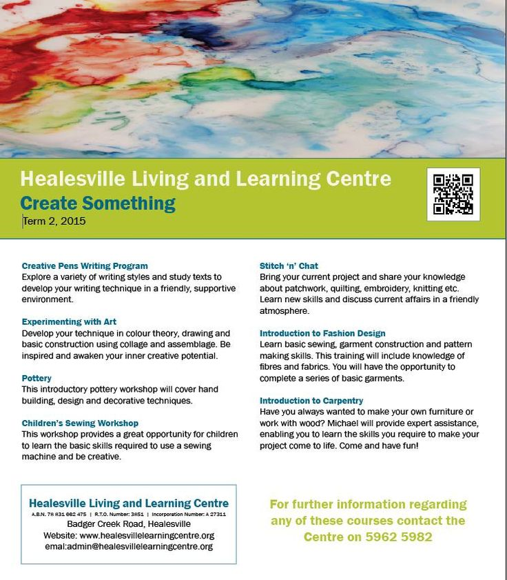 Create something at Healesville Living and Learning Centre - Term 2, 2105 http://www.healesvillelearningcentre.org