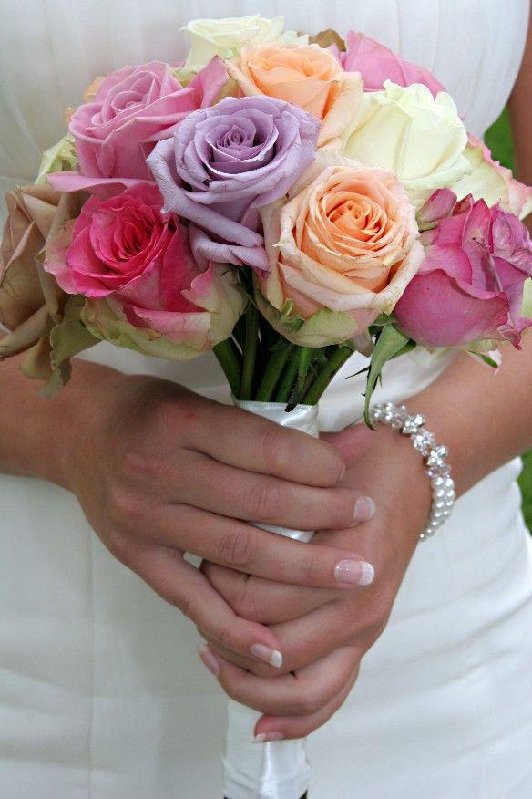Pastel rozen boeket