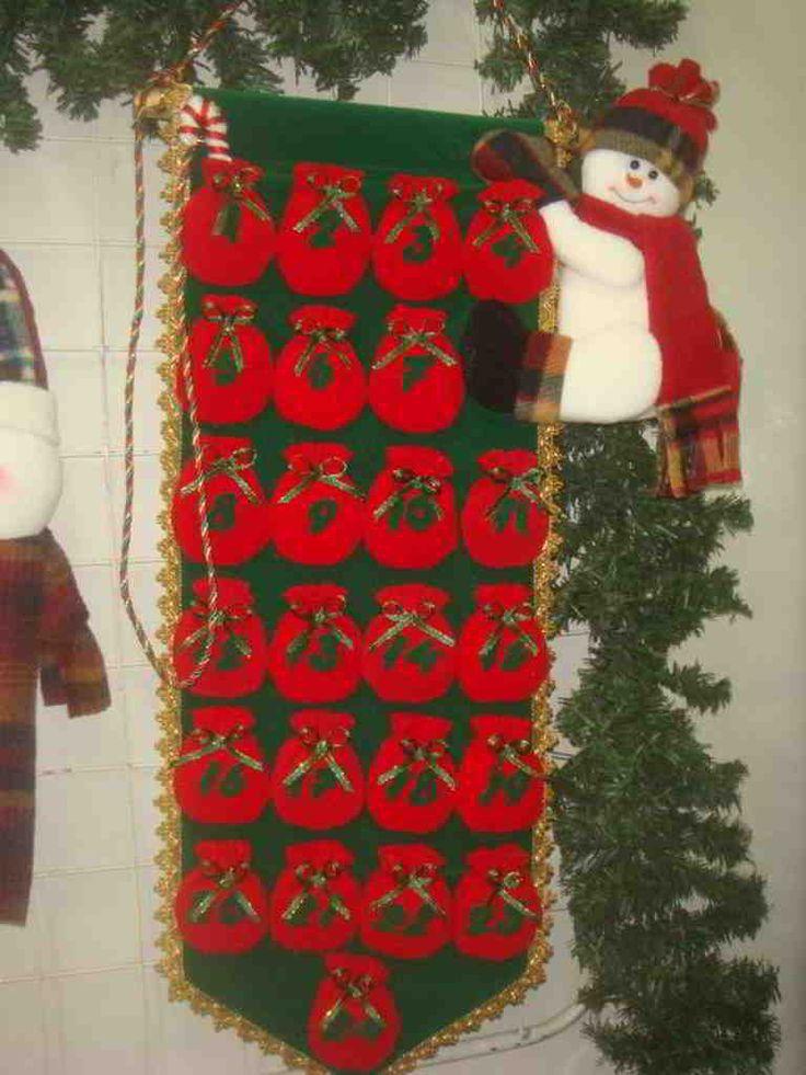 Molde Calendario navidad muñeco de nieve