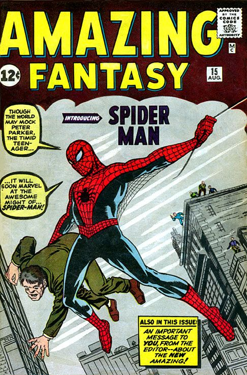 August 10, 1962: With nothing to lose, Stan Lee tosses a superhero idea he's worked up with artist Steve Ditko into the final issue of a failing light sci-fi anthology series. And a legend is born. Happy 50th Birthday, Spider-Man.