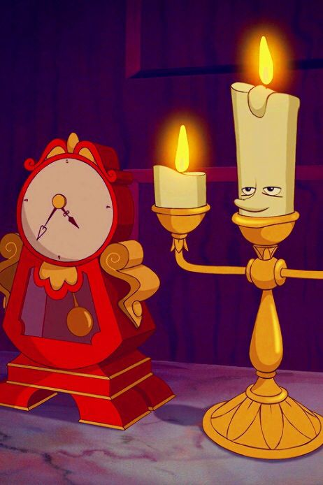 Cogsworth and Lumière - Beauty and the Beast (1991) #waltdisney