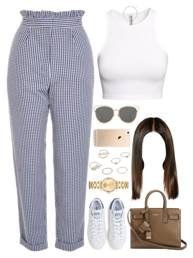 """""""23.04.17"""" by jamilah-rochon on Polyvore featuring H&M, Topshop, adidas, Movado, Yves Saint Laurent, MANGO and Christian Dior"""