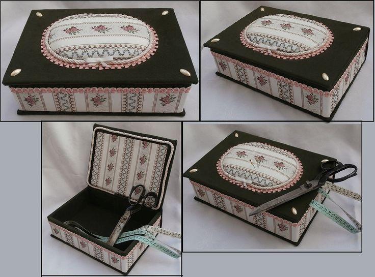 Recyklace staré knihy .Pátá textilem potažená krabice, Vyrobena byla z desek vyřazené knihy..