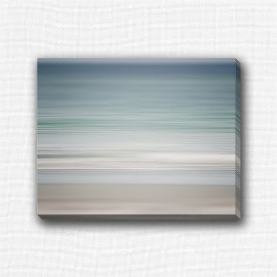 Canvas Decor, Gallery Wrapped Canvas Art, Abstract Beach Decor, Pastel Blue Teal Beige White, Dreamy Abstract Art, Nautical, Ocean Art. on Etsy, $50.00